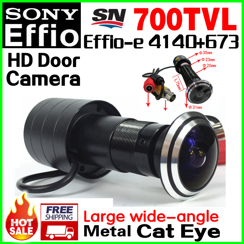 170 Degree Big Wide Angle Door Cat Eye 1/3Sony Sensor CCD 4140+673 700TVL Bullet Mini CCTV HD Camera Hole Installation Vidicon hd 1 3sony ccd 700tvl 960h cat eye door