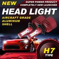 Ironwalls H7 single beam Led Headlight Bulbs 80W 6500K 9600Lm Cree Chips Single Beam Auto Front Fog Headlamp Kit DC 12/24V