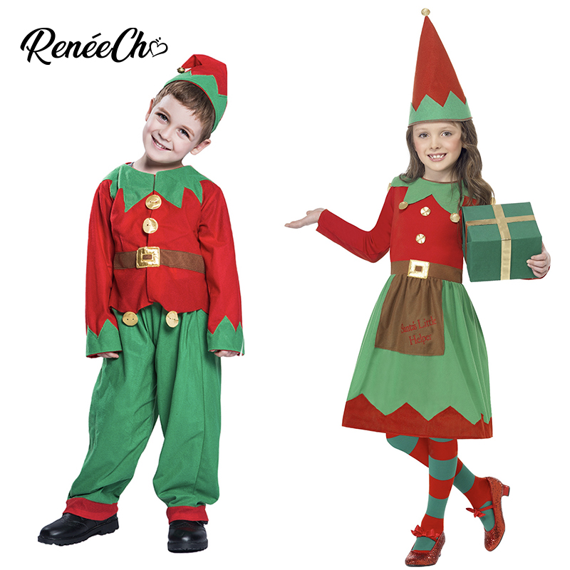 Christmas Costume For Kids Santa Claus Costume Boy Elf Costume Child New Year Cosplay 2018 Christmas Dress For Girls Xmas