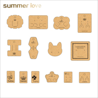 Kraft paper Card Necklace Earrings display Cards Jewelry Tag Holder Card Can Customized Logo/Shape/Size design