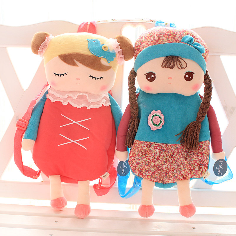 Free Shipping, Metoo rabbit angela child school bag female child backpack