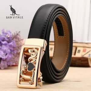 Women Belts Luxury Famous Designer Brand High Quality Genuine Leather Strap Automatic Reversible Buckle Belt for Dress Ceinture(China)