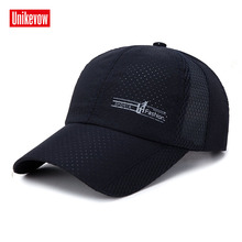 Brand UNIKEVOW New arrival Unisex Mesh baseball caps motorcycle cap Light hat quick dry men women casual summer