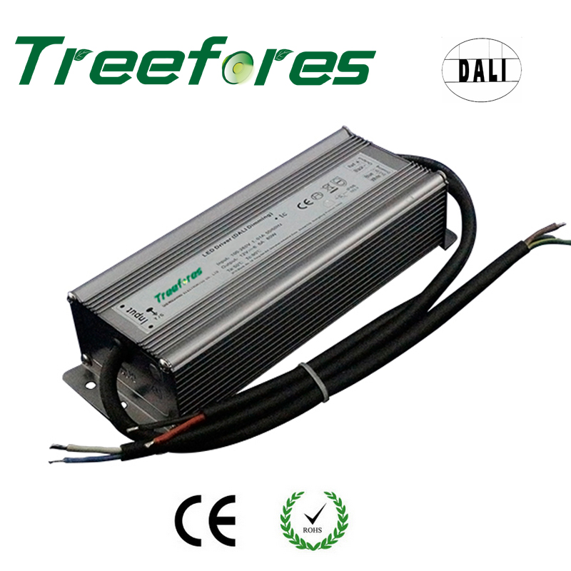 цена на DALI Dimmable LED Driver 60W 80W 100W 120W 150W 200W IP66 DC 12V 24V Power Supply Dimming Transformer Outdoor Voltage Regulator