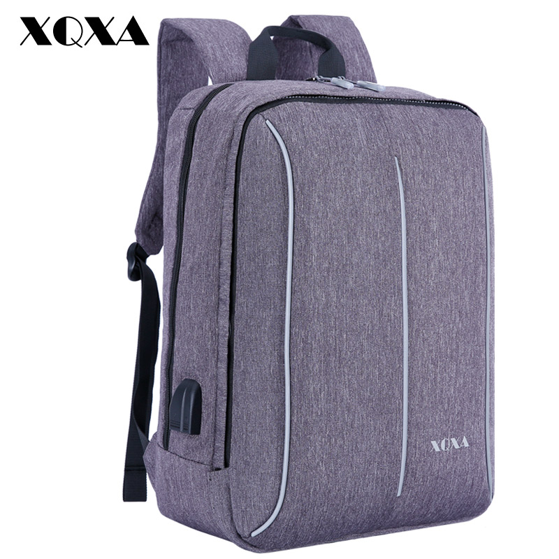 XQXA Waterproof Anti-theft USB Charging 15-17 inch Laptop Backpack for Women & Men Backpack School Backpack Bag for Male Mochila 14 inch waterproof oxford usb charging men s women backpack mochila for womens school bag pack laptop notebook xd design bobby
