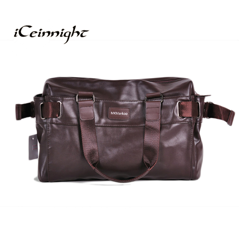 iCeinnight 2016 Men s Travel Bags PU Leather bag for man Brand Luxury Style Men s