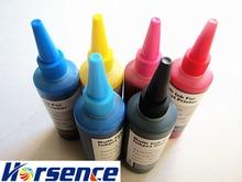 Spezialisiert Textilpigmenttinte für EPSON stylus 6 farben desktop drucker 100 ml pro flasche kann druck auf couton baumwolle tuch