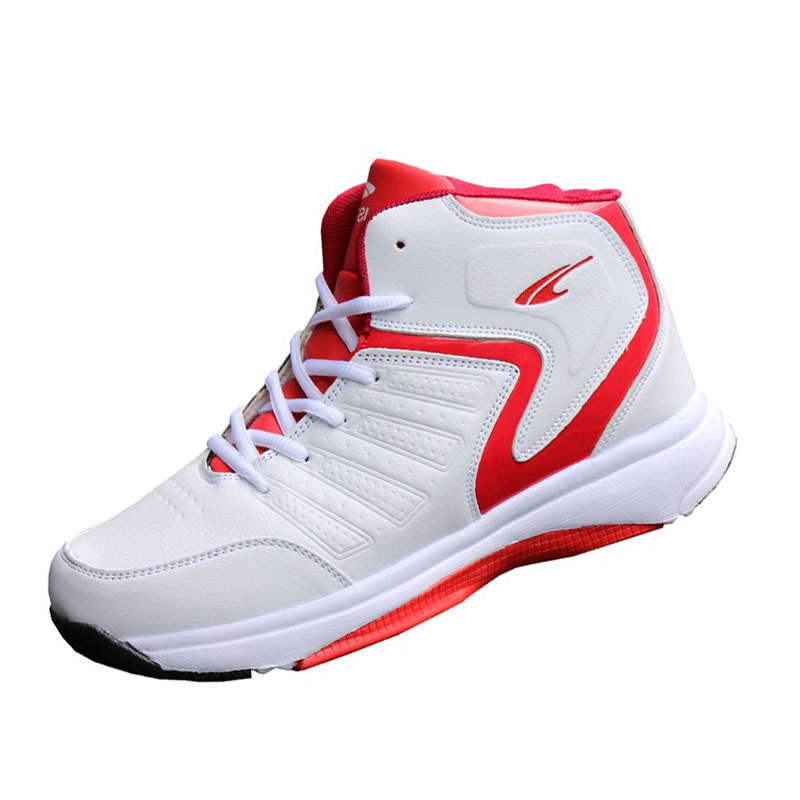 5e5f2d0ff750f3 Man High Top Basketball Shoes Men Cushioning Light Basketball Sneakers Anti  Skid Breathable Outdoor Sports Training Shoes D0558-in Basketball Shoes  from ...