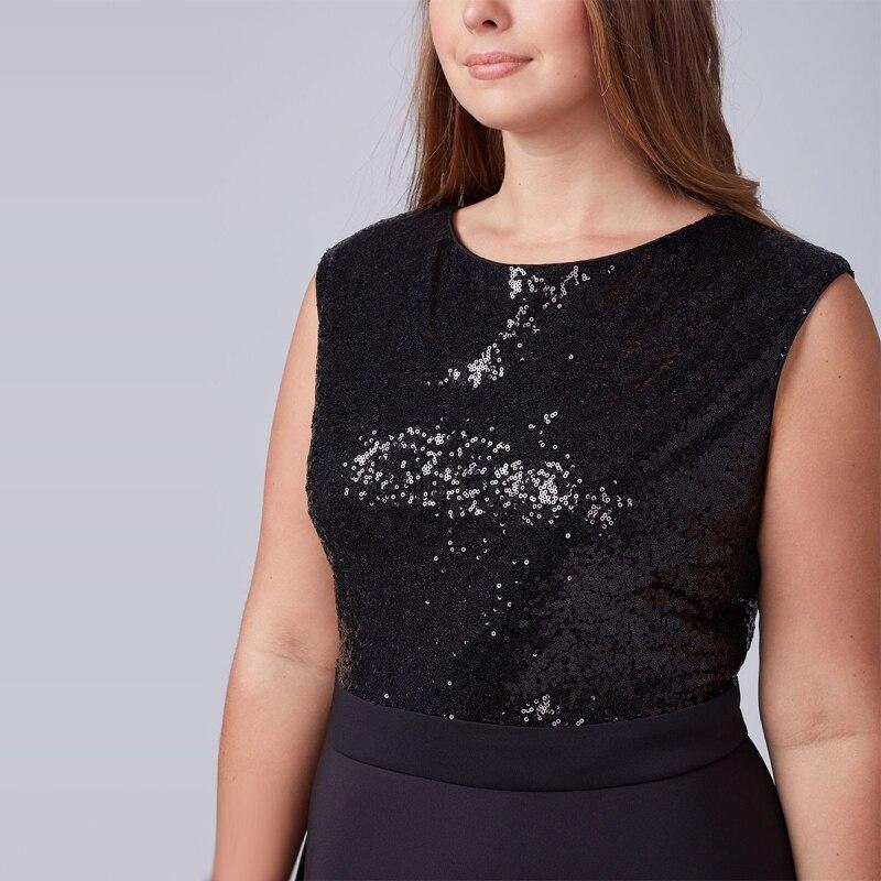 Sequin Dress Women Plus Size 7XL 6XL 5XL 2018 Patchwork Summer Dress  Backless Ladies Dresses Big Sizes Sequined Dress Vestido-in Dresses from  Women s ... 2028066d3a62