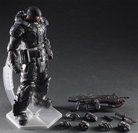Play Arts Marcus Fenix Game Gears of War 3 War Machine PA Kai 27cm PVC Action Figure Doll Toys free shipping