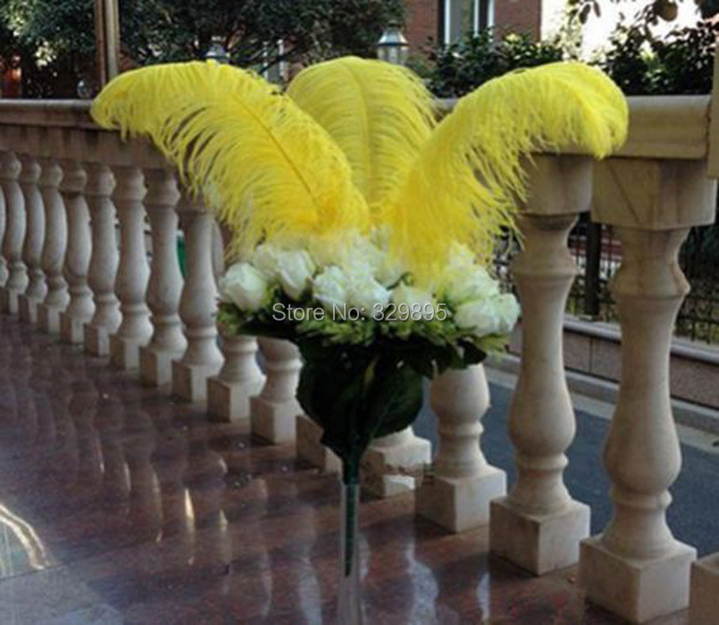 Cheap! 10 pcs Yellow Ostrich Feather 35 40cm /14 16 inch ...