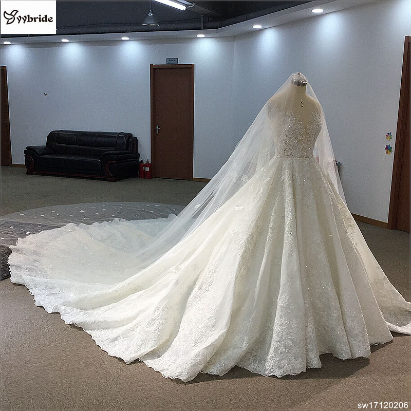 sw17120206-5 surmount custom made royal train wedding dresses 2018 ball gown long sleeves robe de soiree long robe de mariage wedding dresses Surmount Custom Made Royal Train Wedding Dresses 2018 Ball Gown Long Sleeves robe de soiree Long robe de mariage Wedding dresses HTB1hnRFglDH8KJjSszcq6zDTFXa6