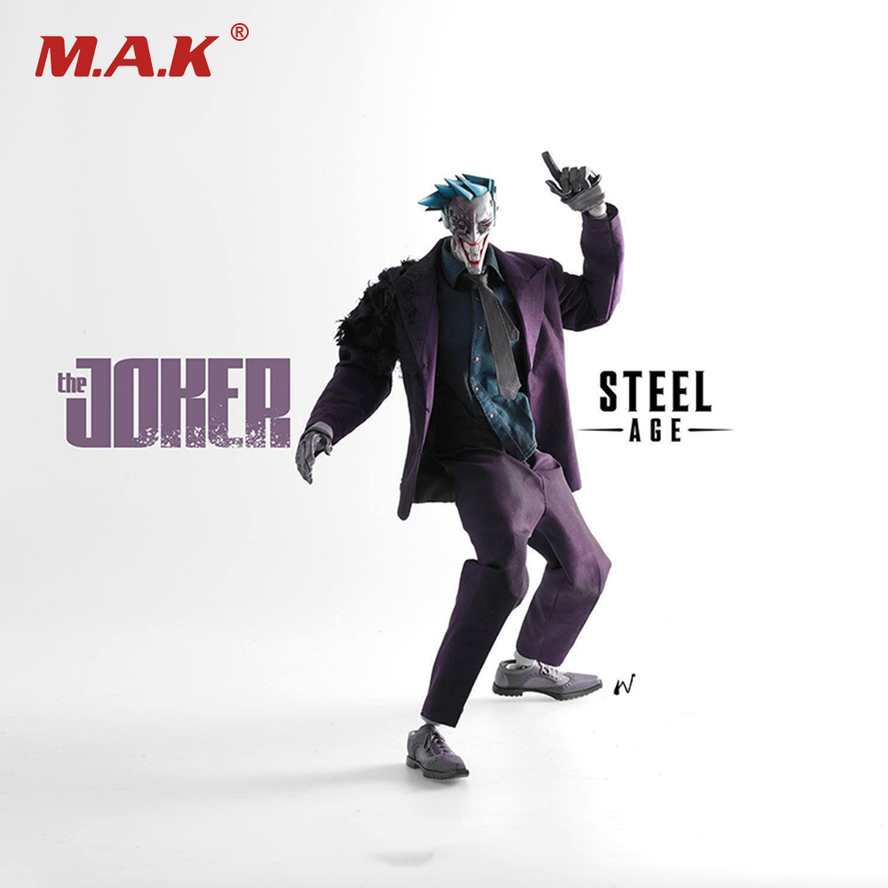 Collctible Full Set Doll 1/6 The Steel Age Joker Full Set Action Figure Model Toys for Collections Gifts