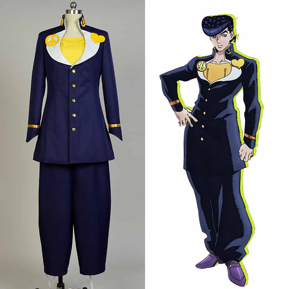 JoJo's Bizarre Adventure Josuke Higashikata Cosplay Costume full set