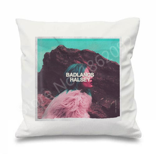 White Badlands Halsey Cushion Cover Music Singer Halsey Throw Pillow ...