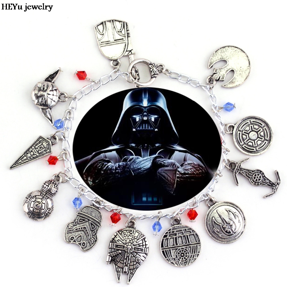Star Wars Charm Bracelet Bb 8 Bb8 Darth Vader Stormtrooper Dead Earth Millennium Crystal Beads Charms Women S Christmas Gift In Bracelets From