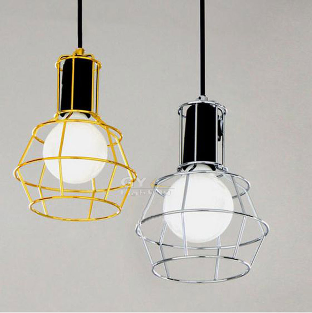art deco vintage industrial metal wire cage pendant light guard rustic ceiling mounted lamp cafe pub cage lighting pendants