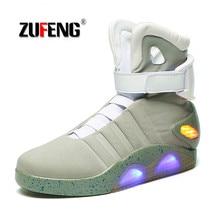 Limited Edition Future Soldiers Férfi Kosárlabda cipő Kiváló minőségű Led Luminous Light Up Hight Top Csizma USB Charge Walking Shoes
