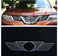 Передняя решетка гриль ободок сотовая Сетка Крышка для Nissan Rogue X-Trail 2014-2016