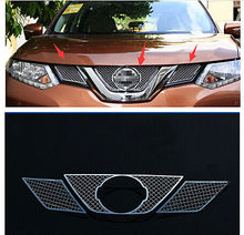 цена на Front Grille Grill Bezel Honeycomb Mesh Cover for Nissan Rogue X-Trail 2014-2016