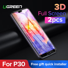 Ugreen For Huawei P30 Protective Glass 3D Hydrogel Screen Protector For Huawei P20 Pro Mate 20 Mate 20 X Nova 4 Honor V 20 Glass(China)
