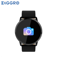 Diggro Q8 Waterproof OLED Bluetooth Fitness Smart Watch Stainless Steel Wearable Device Smartwatch Wristwatch Men Women Tracker