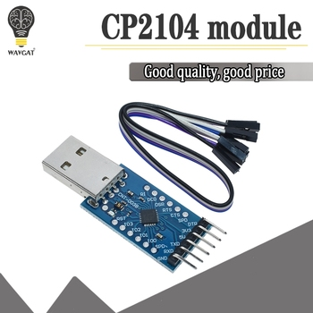 CP2104 USB 2.0 to TTL UART 6PIN Module Serial Converter STC PRGMR Replace CP2102 With Dupont Cables - discount item  8% OFF Active Components