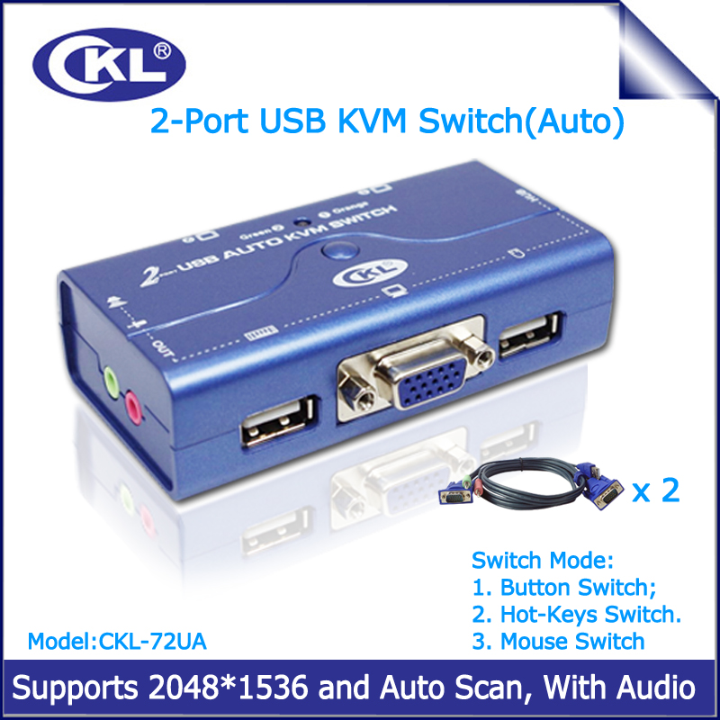 2 Port USB 2 0 VGA KVM Switch with Cabbles Support Audio Auto Scan PC Monitor aliexpress com buy 2 port usb 2 0 vga kvm switch with cabbles  at fashall.co