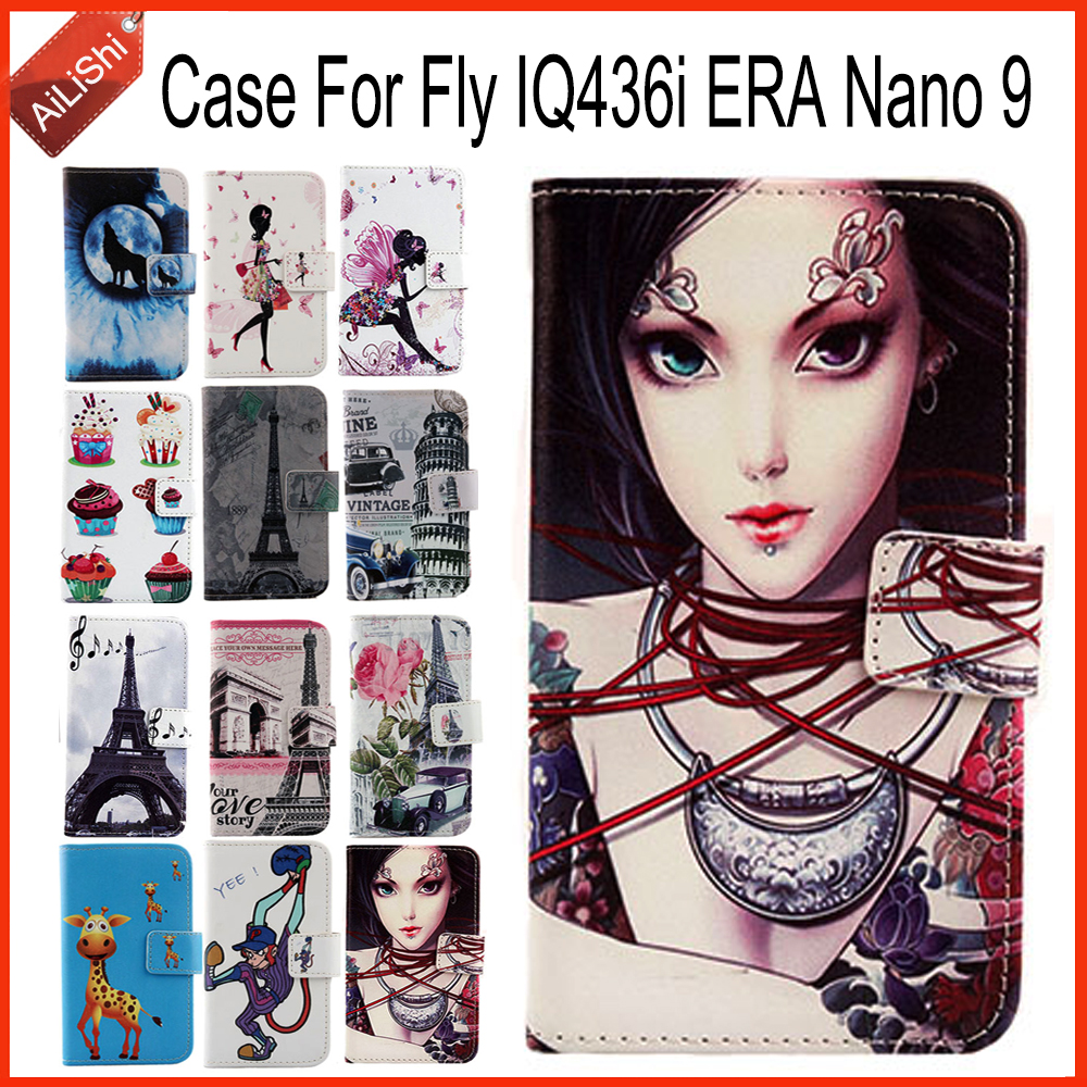 AiLiShi Case For Fly IQ436i ERA Nano 9 Top Quality Flip PU Leather Case New Exclusive 100% Special Phone Cover Skin+Tracking