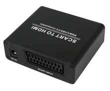 Free shipping SCART to Add HDMI audio Scaler Box