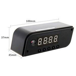 Image 5 - Mini horloge de caméra HD 4K WiFi horloge miroir intelligente avec Vision nocturne détection de mouvement IP horloge prise en charge Android/iOS vue de téléphone Vi