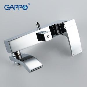 Image 3 - GAPPO Bath Shower System Wall Mounted Rainfall Head Shower Faucet Single Handle Bathroom Shower Set Waterfall Massage Jets Spout
