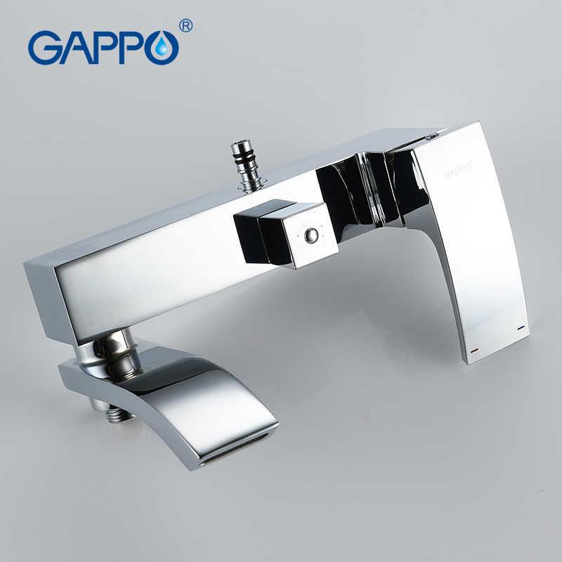 GAPPO อาบน้ำระบบติดผนัง Rainfall หัวฝักบัวก๊อกน้ำเดี่ยวชุดฝักบัวอาบน้ำน้ำตกนวด Jets Spout