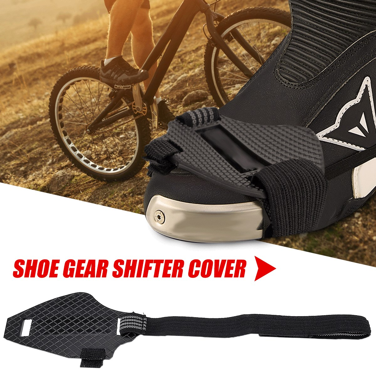 Motorrad Stiefel Abdeckung tragen-wider Gummi Motorrad Getriebe Shift Pad Reiten Motorrad Stiefel Abdeckung Protector Shifter Wachen