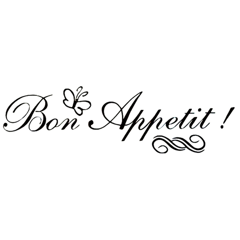 Bon Appetit French Character Wall Sticker Vinyl Removable Wallpaper Restaurants Dining Room Decoration Kitchen Decals