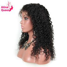 Atina Queen Deep Wave Pre Plucked Lace Front Human Hair wigs with Baby Hair for Black Women Brazilian Remy Hair Wig Natural