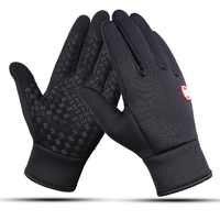 Tela sensível ao toque à prova de vento ao ar livre luvas esportivas para homem mulher quente guantes tacos luva engrossar inverno windstopper