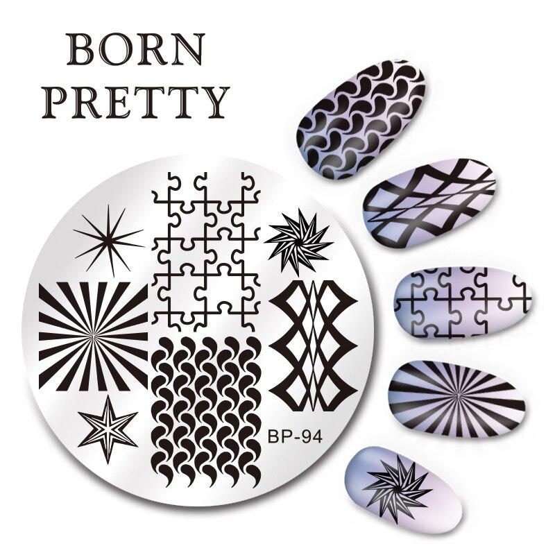 Geometric Reverse Stamping Nail Art Born Pretty Review: Aliexpress.com : Buy BORN PRETTY 5.5cm Round Nail Art