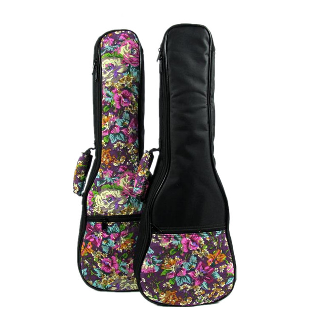 Special 21 2324 26 inch soprano concert tenor ukulele bag uke backpack case soft gig padded pattern purple flower creative gifts