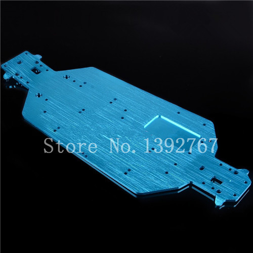 04001 6061 Metal Chassis Blue For 1/10 Scale Models RC Car HSP 94107 94110 94115 Off-Road Truggy Truck 02023 clutch bell double gears 19t 24t for rc hsp 1 10th 4wd on road off road car truck silver