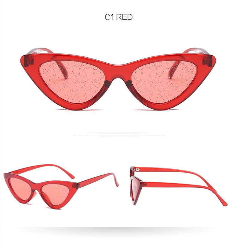 ddaee6da3bd Retro Cat Eyes Sunglasses Women Shiny Purple Red Sun Glasses Ladies Sexy  Cateye Vintage UV400 Eyewear 7 Colors