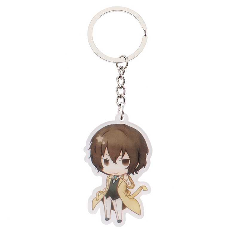 Anime Bungou Stray Dogs Atsushi Nakajima Double Sided Acrylic Keychain 6  Styles Pendant Key Accessories