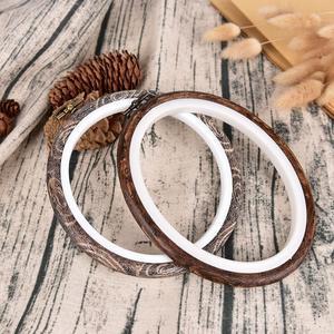 Image 3 - 12 29 Cm Praktische Borduurringen Frame Set Bamboe Houten Borduurwerk Hoepel Ringen Voor Diy Kruissteek Naald Craft gereedschap