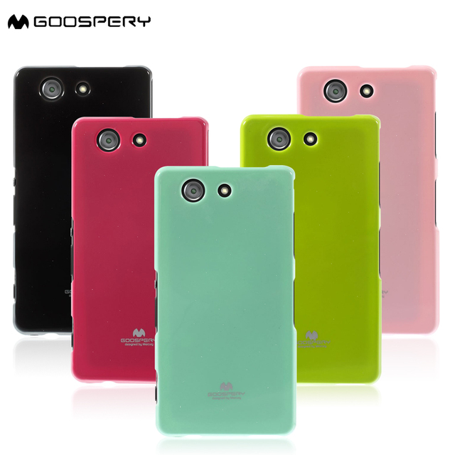 huge selection of 9479b 9597e US $4.99 |MERCURY GOOSPERY Capa for Sony Xperia Z3 Compact Cover Glitter  Powder Soft TPU Case for Sony Xperia Z3 Compact D5803 M55w Cases-in Fitted  ...