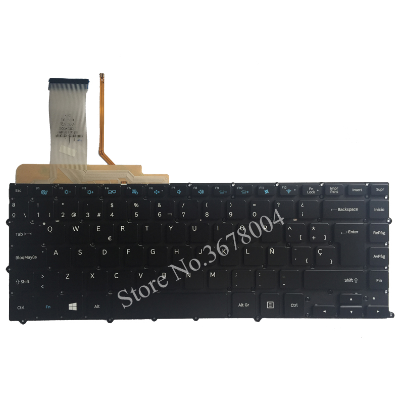 цена NEW spanish FOR Samsung NP900X4 NP900X4B NP900X4C NP900X4D SP laptop Keyboard Backlit without Frame big enter