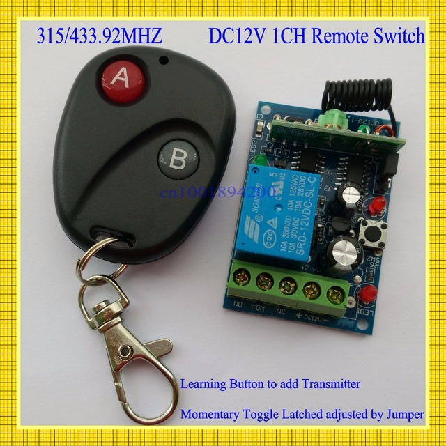 Access Door Control System 12V DC 1CH Remote Switch Receiver Transmitter 433.92/315MHZ Learning code  sc 1 st  AliExpress.com & Access Door Control System 12V DC 1CH Remote Switch Receiver ...