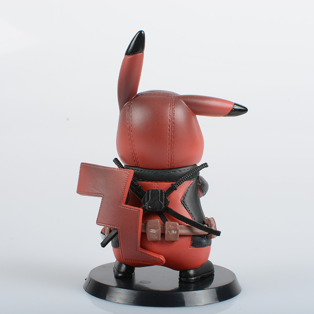 Deadpool Captain America Darth Vader Pikachu Cosplay PVC Figure Collectible Model Toy Small Size 8.5-11cm 3 Styles 4