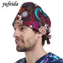 YUFEIDA 2018 New Style Caps Perubatan Caps Hospital Workwear Percetakan Caps Lab Operasi Unisex Doctor Nurse Workwear