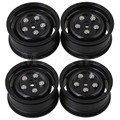 Mxfans 4pcs Plastic RC 1:10 Wheel Rims for Model On-road Racing Car & Drift Car Black