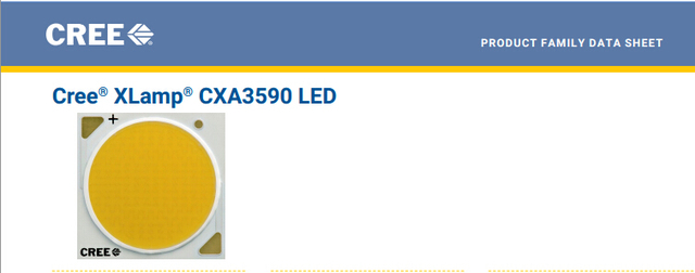 2pcs/lot US.CREE CXA 3590 Beads 150W High Power LED Chip 2700~3000K@5000~6500k  Pure white/Warm White
